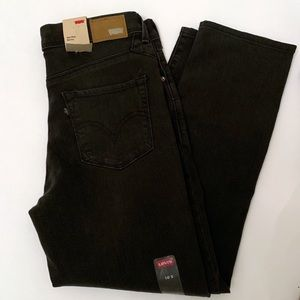 Levi's faded black mid rise skinny jeans